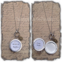 Silver Picture Locket, Mom Jewelry, You Are My Sunshine, Photo Locket, Gift For Mom, Mother's Day Gift, PennyWhistle,