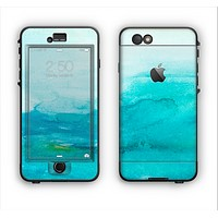 The Grungy Blue Watercolor Surface Apple iPhone 6 Plus LifeProof Nuud Case Skin Set