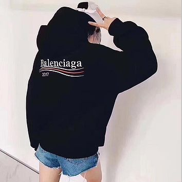 balenciaga fashion logo hooded sport top sweater sweatshirt hoodie 8
