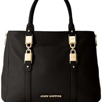 Juicy Couture Hillcrest Leather Tote Shoulder Bag,Black,One Size