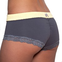 FOXERS - Yellow over Grey Boyshort