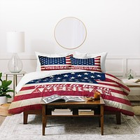 Anderson Design Group Proud To Be An American Flag Duvet Cover