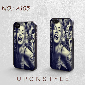 Phone Cases, iPhone 5 Case, iPhone 5s Case, iPhone 4 Case, iPhone 4s case, Marilyn Monroe, iPhone Case, Case for iphone, Case No-105