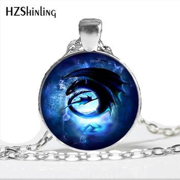 NS-00794 New Arrived Awesome Toothless How to dragon Necklace Steampunk Silver Long Chain Pendant Jewelry For Women Men HZ1
