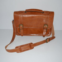 Vintage Messenger Bag Leather Briefcase Satchel Bag