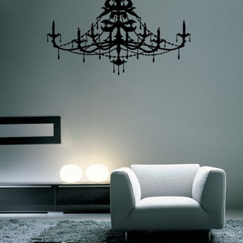 Classy Chandelier Wall Decal