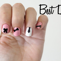 Best Dress Vinyl Nail Stickers -bows and ties