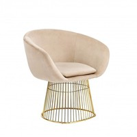 Dylan Beige Velvet Accent Chair