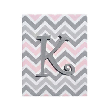 6c73b2221 Upholstered Wood Letter Name / Pink Gray White Premier Prints Be. Baby ...
