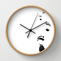 foot prints Wall Clock by Antoine's  Vision