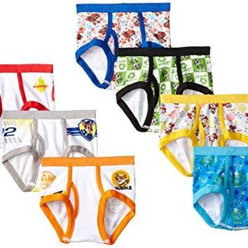 Handcraft Little Boys' Toddler Paw Patrol  Brief (Pack of 7), Assorted, 2/3T