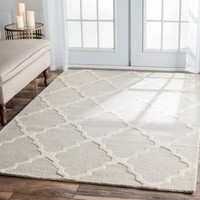 nuLOOM Hand-hooked Alexa Moroccan Trellis Wool Rug (7'6 x 9'6) | Overstock.com Shopping - The Best Deals on 7x9 - 10x14 Rugs