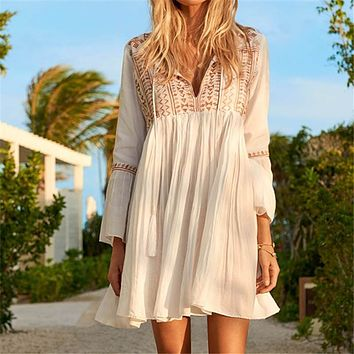 Sports & Entertainment New Beach Cover Up Esteira De Praia Print Fringe Swim Suit Cover Up Cangas De Praia Beachwear Salida De Playa Beach Pareos Tunic