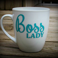 Boss Lady personalized coffee mug, boss gift, boss's day Personalized gift