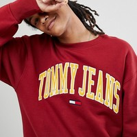Tommy Jeans Collegiate Capsule Sweatshirt in Red at asos.com