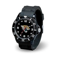 Jacksonville Jaguars NFL Football Team Men's Black Sparo Spirit Watch