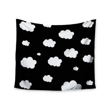 "Suzanne Carter ""Clouds"" Black White Wall Tapestry"