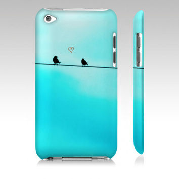 How To Fly - Blue Birds Love Heart Nature - Custom iPhone Cell 3g 3gs 4 4s Samsung or iPod Touch 4th 5th Gen