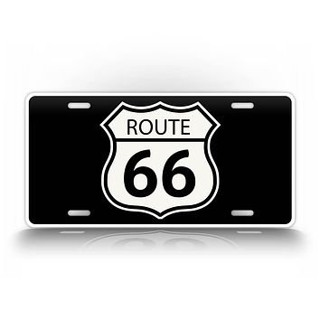 Classic Route 66 Sign License Plate