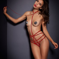 View All Lingerie by Agent Provocateur - Bullet Playsuit