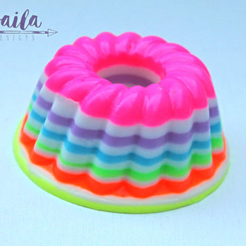 rainbow soap, gelato soap, jello soap, rainbow baby, LGTB, gay pride gift, rainbow decorations, rainbow party favors, circus favors, Neon