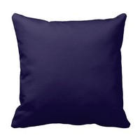Customizable Navy Blue Throw Pillow