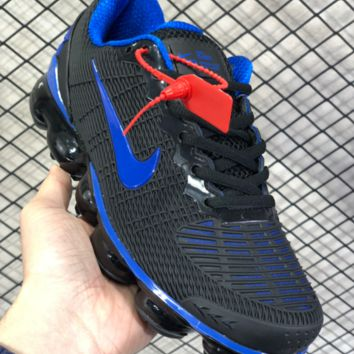DCCK N810 Nike Air Vapormax Flyknit 2019 Nanotechnology Drop Plastic Shock Absorbing Slip-proof and Wear-resistant Sports Shoes Black Blue