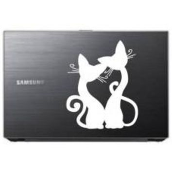 Two Cats Love Automobile Tablet Decal Tablet PC Sticker Wall Laptop mobile truck Notebook macbook Iphone Ipad Car Window Decal