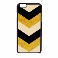 Chevron Classy Black And Gold Printed iPhone 6 Case
