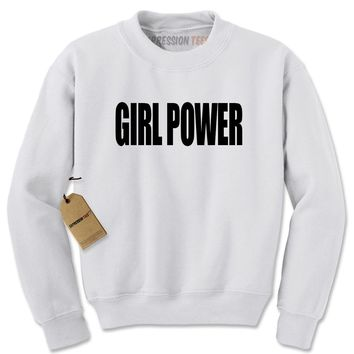 Girl Power Adult Crewneck Sweatshirt