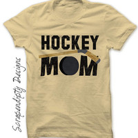Hockey Mom Shirt - Custom Hockey Shirt / Womens Sports Tshirt / Customized Hockey Gift / Boys Hockey Stick Shirt / Mom Hockey Life Clothing
