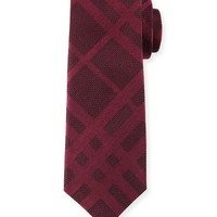 Tonal Check Silk Tie, Red, Size: 2, red - Burberry