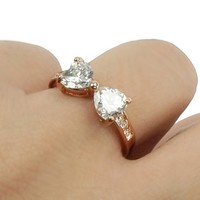 Sweet Sparkling Bowtie Ring