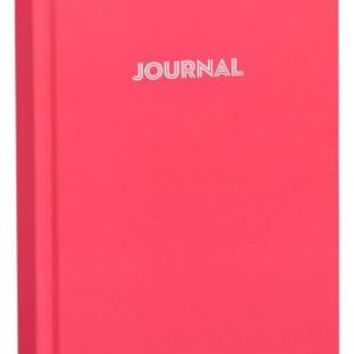 Pink Basic Bound Lined Journal (5''x 8'')