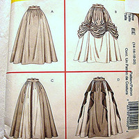Historical Womens Medieval Renaissance Costume Pattern Skirt Costumes Misses Adult size 14 16 18 20 UNCUT