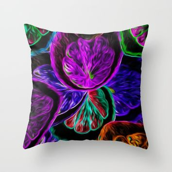 LIVE Throw Pillow by violajohnsonriley