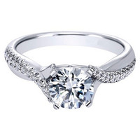 "Ben Garelick Royal Celebration ""Lydia"" Solitaire Twist Diamond Engagement Ring"