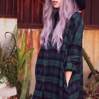 Flannel Plaid Boyfriend Tunic (more colors)