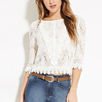 Sheer Eyelash Lace Top