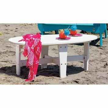 Uwharrie Chair Company 7030-047 Wave Coral Red Outdoor Conversation Table - (In 047-Co