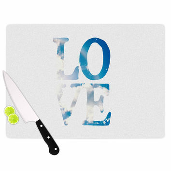 "Robin Dickinson ""LOVE"" White Cloud Cutting Board"