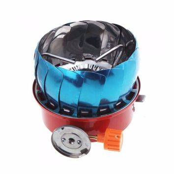 Backpacking Portable Outdoor Camping Gear Propane Gas Stove with Electronic Ignition