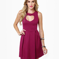 Lovestruck Cutout Magenta Dress
