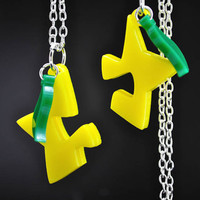 Interlocking Paopu Fruit Kingdom Hearts Friendship or Lovers Necklace Set Cosplay