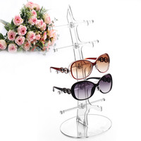 New 5 pairs glasses sun glasses display shelf  Sunglasses  Plastic Frame  Removable Counter Shop Display Show Stand Holder Rack