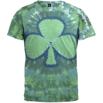 Green Shamrock Tie Dye T-Shirt