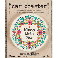 Natural Life Car Coaster Bless This Car