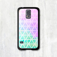 Geometric Samsung Galaxy s5 case - Pastel Pink & Mint Geometry, Galaxy s5 cover