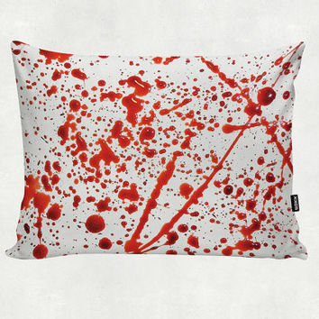 Blood Spatter - Bloody Murder - All Over - Pillow Cover - Home Gift