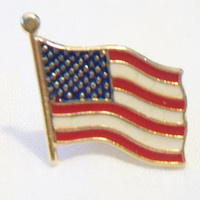 American Flag Tie Tack Lapel Pin Patriotic Jewelry Unisex Accessories Memorial Day Fourth of July